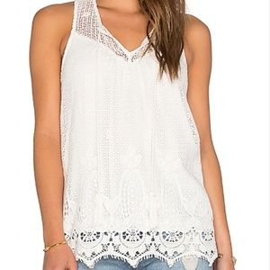 SALE! Ella Moss Thistle White Tank